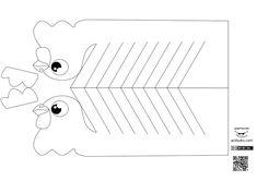 """Esta manualidad es una adaptación de la encontrada en el blog ruso """"Ctpana Mactepob"""" dedicada a artesanía en todas sus formas y al medio ambiente. Puedes encontrar más imágenes sobre el montaje de estas aves así como encontrar más manualidades similares y adquirir el libro de manualidades en el artículo … Paper Animal Crafts, Paper Animals, Printable Numbers, Printable Crafts, Diy And Crafts, Crafts For Kids, Arts And Crafts, Origami, Paper Stars"""