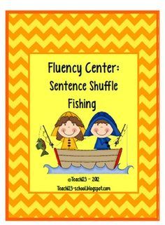Fluency Center:  Fishing Sentence Shuffle - aligned with k, 1, 2 CCSS $4
