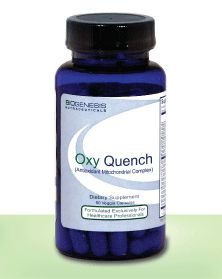 Oxy Quench is the most comprehensive antioxidant formula on the market today. Oxy Quench provides a broad spectrum of antioxidants and accessory nutrients to support mitochondrial ATP (energy) production and protect the delicate mitochondrial membranes from oxidative damage.†