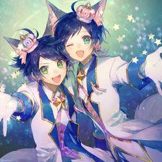 Kai, Riku - Show By Rock! Anime Neko, Kawaii Anime, Anime Guys, Manga Anime, Anime Art, Anime Style, Show By Rock Anime, Photo Manga, Anime Siblings