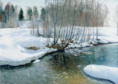 «Весенние воды. Река Кубань» х.м. 50х70 2012г.
