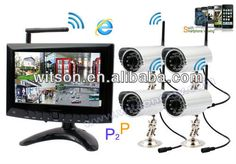 Witson wireless home security camera system with Monitor, P2P Network, Free DDNS, W3-KWD7904N $50.00~$300.00