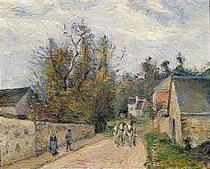 Camille Pissarro, Pontoise, la diligence route d'Ennery à l'Hermitage