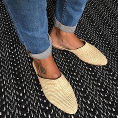 Slipper in raffia quality  handmade  slow fashion