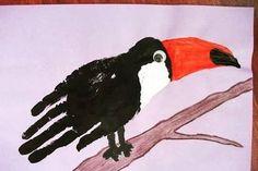 Handprint and footprint artwork ideas for children Artwork Ideas, Footprint, Moose Art, Homeschool, Children, Animals, Kids, Animais, Animales