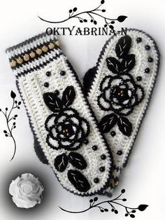 (inspiration only- website is NOT English and google translate couldn't translate all of it.)  Lots of beautiful gloves.  nice gloves (hook) with Diagram