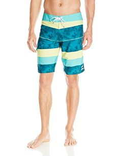 Billabong Men's Stacked X Stretch Boardshort, Mint, 34 ** This is an Amazon Associate's Pin. Click the image to view the details on Amazon website.