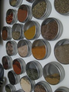 DIY Magnetic Spice Rack