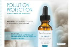 Like other oxidative damaging components like smoke and sun, POLLUTION can contribute to aging skin. Grab a bottle of CE Ferulic serum and help protect your skin against these types of environmental damage.