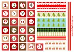 Free printable Christmas advent calendar numbers and borders - ausdruckbare Adventszahlen - freebie | MeinLilaPark