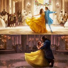 Beauty and the Beast. Belle&Adam by if you intend to publish this is required to give credit to his artist<<yas they should've kept her yellow dress for the last dance scene but that's not how the had it planned Disney Pixar, Deco Disney, Disney Word, Film Disney, Arte Disney, Disney Fun, Disney And Dreamworks, Disney Animation, Disney Magic