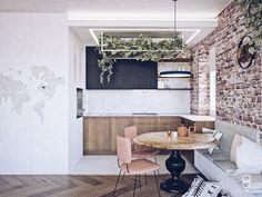 Brick wall / loft kitchen / industrial / industrialna kuchnia Industrial, Table, Anna, Loft, Furniture, Home Decor, Decoration Home, Room Decor, Industrial Music
