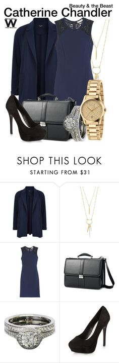 """""""Beauty and the Beast"""" by wearwhatyouwatch ❤ liked on Polyvore featuring New Look, Stella & Dot, Rebecca Taylor, Samsonite, Gucci, television and wearwhatyouwatch"""