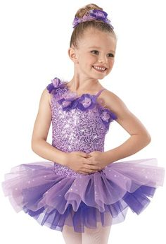 Flowers- Weissman™ | Sequin Floral Dual Tone Tutu Dress