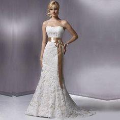 Sweetheart Lace and Satin Sash A-Line Dress    Autumn Collection Vestidos  De Fiesta feceb5b90630