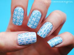 Confessions of a Polishaholic: Blue stamping :)