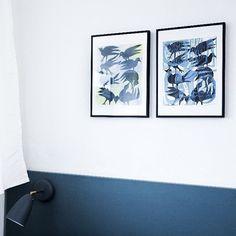 Køb Prints af Morten Christoffersen i retro villa  300 dkk A3  link i bio - Sengegærdet er en mdf plade fra Bauhaus malet med Lava fra @dyrupdk #retrovilla #mortenchristoffersen @mortenschristoffersen