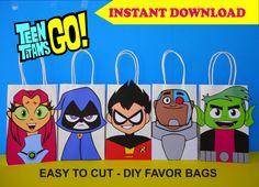 Teen Titans Go Party FAVOR BAGS/ Teen Titans Birthday Party