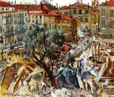Building under Construction in Monte Carlo (1914) - Lovis Corinth