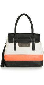 DIANE VON FURSTENBERG  Harper Laurel color-block leather tote  $685