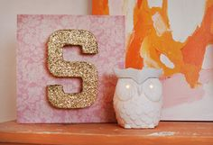 Gold + pink #nurserydecor #glitter