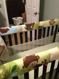 Repurpose your crib bumpers!! I know it's not recommended to use crib bumpers anymore. Sew a waterproof mattress pad into the bumper now they are teething guards.