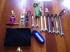 Coxswain Bags, pt. 2: What I carry in my backpack -> I need to get some wrenches and a coxswain bag...