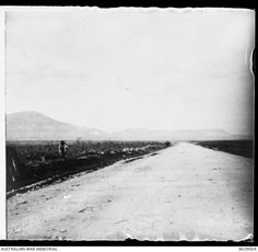 The Homs Road, north of Damascus near Khan Kusseir. It was along this road that the last remnant . The Last Remnant, Turkish Army, Damascus, Syria, Wwi, Egypt, October, Country Roads, Horses