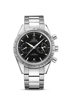 Omega Speedmaster 57 Co-Axial Chronograph Steel Omega Speedmaster, Luxury Watches, Rolex Watches, Watches For Men, Latest Watches, Casual Watches, Wrist Watches, Stainless Steel Bracelet, Stainless Steel Case