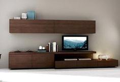 Mueble Modular Mesa Rack Living Tv Lcd Progetto Mobili 4657$
