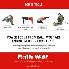 Power Tools from Ralli Wolf are engineered for excellence - meeting the highest standards in speed, precision and robustness for great work results. #ralliwolf #powertools http://ralliwolf.com