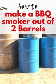 Get ready for summer and make a DIY bbq smoker with this easy tutorial. Outdoor Projects, Outdoor Ideas, Backyard Ideas, Garden Ideas, Pothos In Water, Wine Barrel Table, Lounge Party, Growth Chart Ruler, Vintage Stool