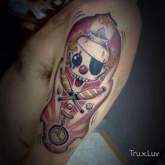 Clowning tattoo
