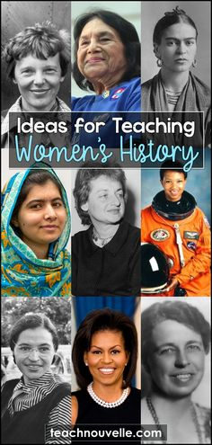7 Ideas for Teaching Women's History - Nouvelle ELA Teaching Resources History Posters, History Quotes, Political Equality, American English, American History, English Classroom, Student Reading, Teaching Resources, Classroom Resources