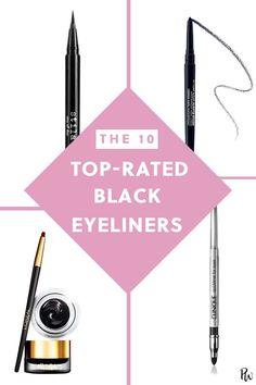 Life Hacks : 10 Top-Rated Black Eyeliners That Wont Smudge Transfer or Disappear Simple Eyeliner, Perfect Eyeliner, How To Apply Eyeliner, Black Eyeliner, Winged Eyeliner, Pencil Eyeliner, Gel Eyeliner, Contour Makeup, Eye Makeup