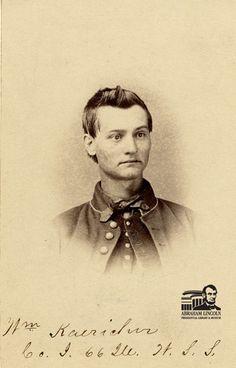 Pvt. William Baker Kaericher, 66th Illinois Volunteer Infantry, Company I