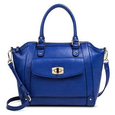 Women's Tote Handbag with Turnlock - Merona™ - Blue