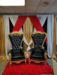 gold and black Diamond back chair rental