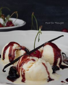 Food for thought: Παγωτό βανίλια Greek Recipes, Sorbet, Food For Thought, Deserts, Ice Cream, Sweets, Breakfast, Ethnic Recipes, Food Blogs