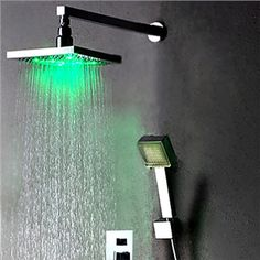 Colorful Led Shower Head 7-color Changing Shower Head No Battery Led Waterfall Shower Head Round Bathroom Accessories Showerhead Exquisite Traditional Embroidery Art Shower Heads Bathroom Fixtures