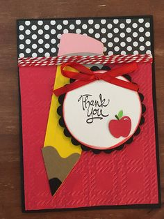 Check out Teacher Appreciation Thank You Card with envelope on scrappinbjs Teachers Day Card, Teacher Thank You Cards, Teacher Appreciation Cards, File Decoration Ideas, Cricut Cards, Origami, Creative Cards, Scrapbook Cards, Homemade Cards