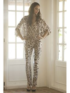 Magdalena Jumpsuit in Taupe Leopard — The Hip Chick