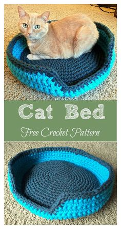 Crochet Cat House & Nest Bed Patterns & Instructions - Crochet Sturdy & Comfy Cat Bed Free Pattern – Crochet Cat House Patterns Crochet Sturdy & Comfy C - Gato Crochet, Beau Crochet, Crochet Cat Toys, Crochet Cat Pattern, Crochet Animals, Crochet Crafts, Crochet Projects, Free Crochet, Crochet Patterns