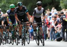 Team Dimension Data's Mark Cavendish during Saturday's stage seven of the Tour of Britian. Behind Cav is Castletown resident Ian Stannard (Photo: David Davies/PA Wire)