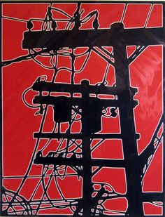 Wow - powerful stuff by Dave Lefner RT Linocut                                                                                                                                                                                 More