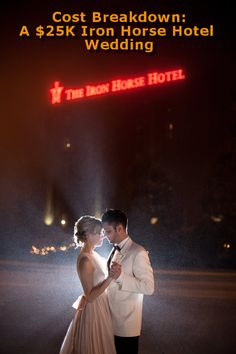 A Stunning Iron Horse Hotel Wedding - This unique wedding cost breakdown includes a ceremony at the Iron Horse Hotel and a backyard reception Affordable Wedding Photography, Wedding Photography Poses, Winter Photography, Wedding Costs, Budget Wedding, Wedding Planning, Horse Wedding, Wedding Couples, Wedding Cost Breakdown