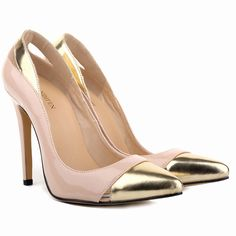 Classic Sexy Pointed Toe High Heels Women Pumps Shoes Spring Brand Wedding Pumps Big Size 35-42 5 MIX GOLD Color 302-1MIX
