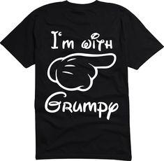 New I'm With Grumpy MIckey MOuse Disney World Vintage MEN'S T-Shirt S- 6XL #Handmade #GraphicTee