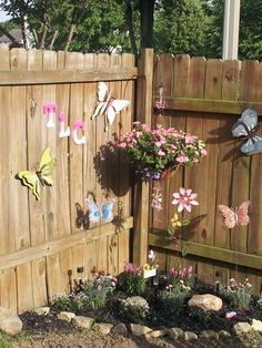 Image result for diy memorial corner fence garden