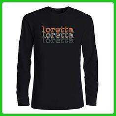 Idakoos - Loretta repeat retro - Female Names - Long Sleeve T-Shirt - Retro shirts (*Amazon Partner-Link)